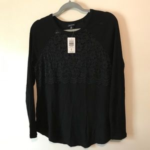 NWT Torrid ribbed lace top 00